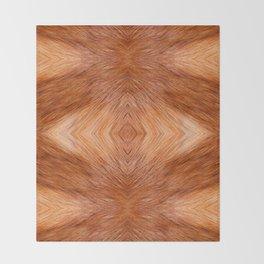 Red fox hairy fur texture cloth Throw Blanket