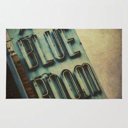 Blue Room Neon Sign Rug