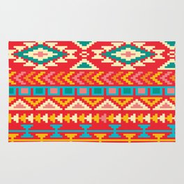 Red Native Aztec Rug