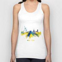 new york skyline Tank Tops featuring New York City Skyline  by jbjart