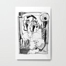 Sunbath - b&w Metal Print
