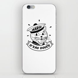 Chat marin - Marin d'Eau Douce iPhone Skin