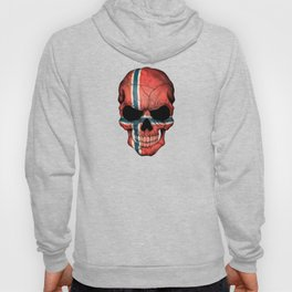 Dark Skull with Flag of Norway Hoody