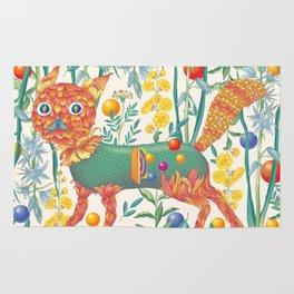 Flower cat Rug