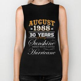 August 1988 Gifts 30 Years Anniversary Celebration Biker Tank