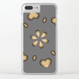 Golden Hearts Golden Luxury Week Wednesday Clear iPhone Case