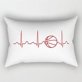BASKETBALL HEARTBEAT Rectangular Pillow