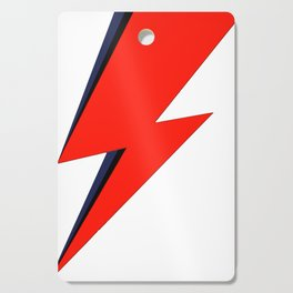Red Bowie David Lightning Bolt Cutting Board