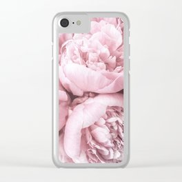 Lush Peony Flower Clear iPhone Case