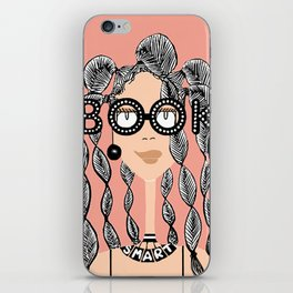 Book smart with braids iPhone Skin