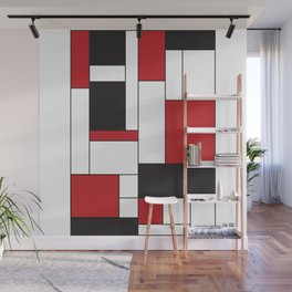 Geometric Abstract - Rectangulars Colored Wall Mural