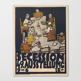 "Egon Schiele ""Secession 49. Exhibition"" Canvas Print"
