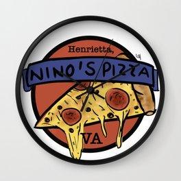 Nino's Pizza Wall Clock