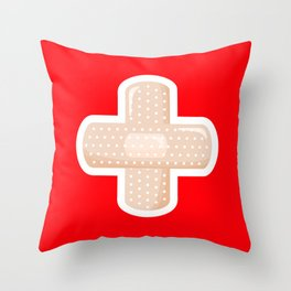 First Aid Plaster Throw Pillow