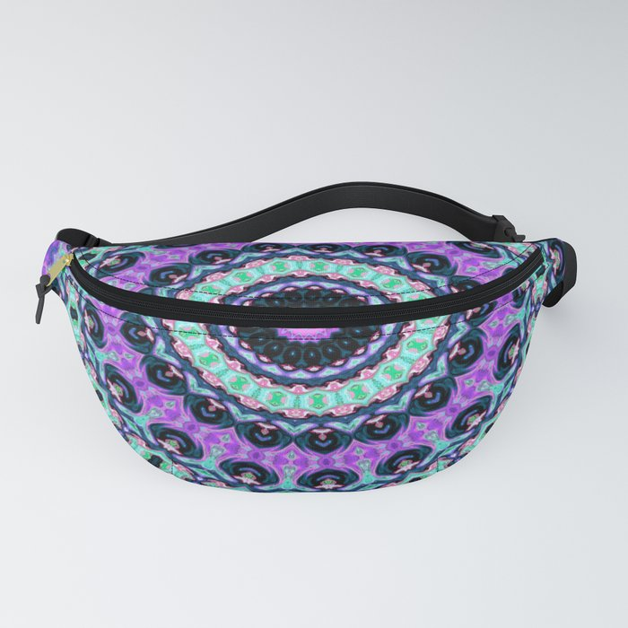 Purple Lavender Mint OM Meditation Good Vibe Mandala Fanny Pack