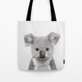 Koala Print, Australian Baby Animal, Nursery Wall Art, Peekaboo Animals, Koala Tote Bag