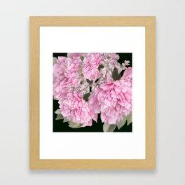 Pink Bouquet On A Black Background  #society6 #buyart Framed Art Print