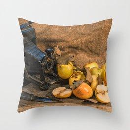 Agfa and Apples Throw Pillow