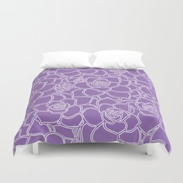 Amethyst Succulent Drawing Duvet Cover