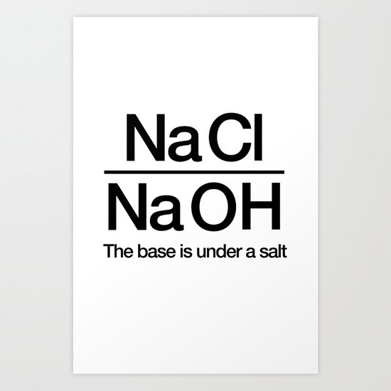 NaClNaOH Art Print