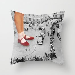 Who Is The Last? Throw Pillow