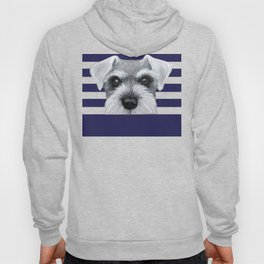 Schnauzer Grey&white, Dog illustration original painting print Hoody