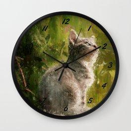 Cute abstract kitten Wall Clock