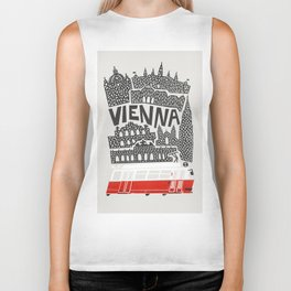 Vienna City Print Biker Tank