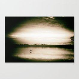 Sunset in camera obscur (2) Canvas Print