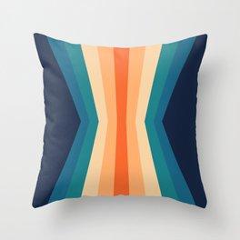 70's Retro Classic Color Palette Reflection Throw Pillow
