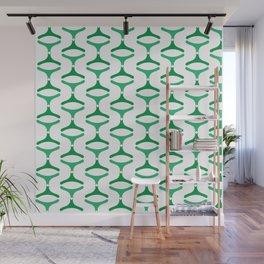Negative Waves: Shades of Green Wall Mural