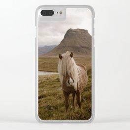 Kirkufell Pony Clear iPhone Case