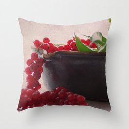 Still life of red currants Throw Pillow