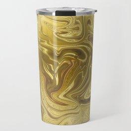 Rich Gold Shimmering Glamorous Luxury Marble Travel Mug