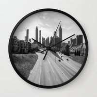 atlanta Wall Clocks featuring Atlanta by Trey Visions
