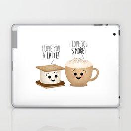 I Love You A Latte! I Love You S'more! Laptop & iPad Skin