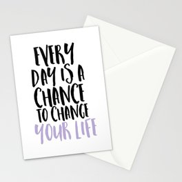 Every Day is a Chance Lavendar Stationery Cards