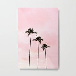 Palm Tree Photography Peach   Blush Pink   Millennial Pink   Miami Metal Print