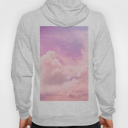 Pink And Purple Fluffy Colorful Clouds Cotton Candy Texture Hoody