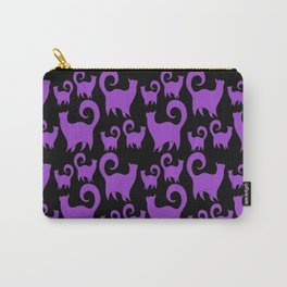 Purple Snobby Cats Carry-All Pouch