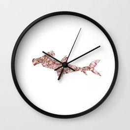 Rose gold hammerhead shark Wall Clock