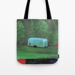 airstream trailer - by phil art guy Tote Bag