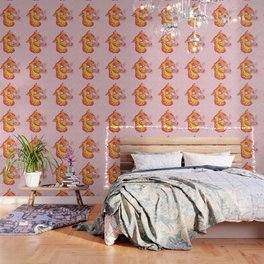 Tigerpop pattern Wallpaper