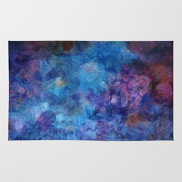 Blue Grotto Abstract Painting  Rug