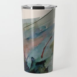 Begin again [2]: an abstract mixed media piece in a variety of colors Travel Mug