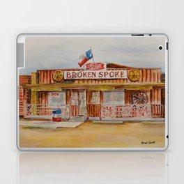 The Broken Spoke - Austin's Legendary Honky-Tonk Watercolor Painting Laptop & iPad Skin