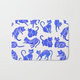 Cat Positions – Blue Palette Bath Mat