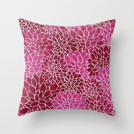 Floral Abstract 26 Throw Pillow