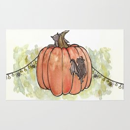 Baby Bats at the Pumpkin Patch Rug