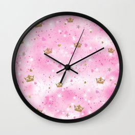 Pink Princess Wall Clock